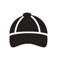 Flat icon in black and white men cap vector