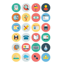Flat SEO and Marketing Icons 5 vector