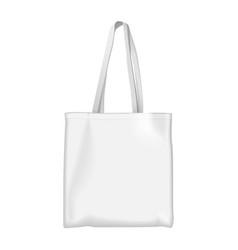 Full white eco bag mock up vector