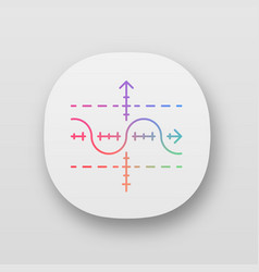 Function graph app icon duplicate function vector
