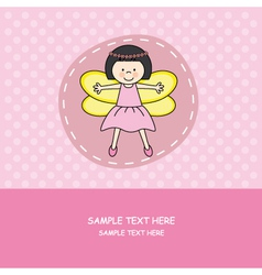 Girl with princess costume vector