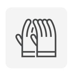 glove gardening icon vector image