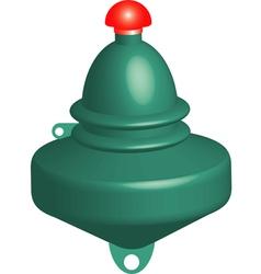 Green buoy vector