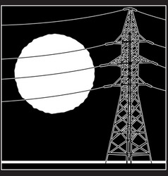 High-voltage lines vector