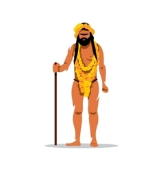 Hindu man in Festival Kumbh Mela Cartoon vector image