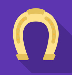 Horseshoe icon in flat style isolated on white vector