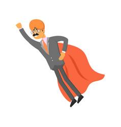 Indian businessman with cloak superman vector