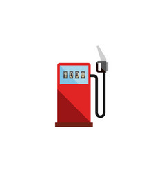 Isolated gas station flat icon petrol vector