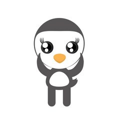Kawaii penguin animal toy vector