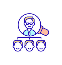 Learn style boss rgb color icon vector