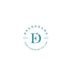 Letter fd feminine logo design vector