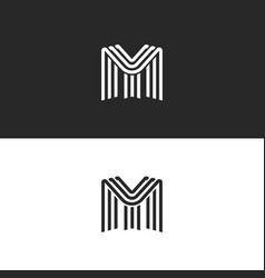 Letters my monogram logo template combination vector