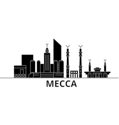 mecca architecture city skyline travel vector image
