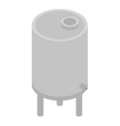Milk beverage cistern icon isometric style vector