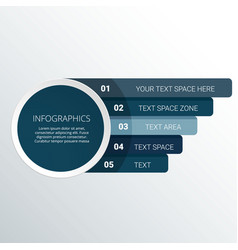 modern infographic circle infographic vector image