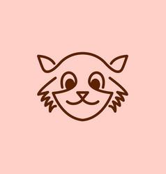 monoline civet cat logo vector image
