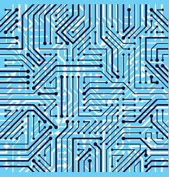 Motherboard board seamless pattern background vector