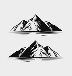 Mountain range or rock nature vector