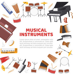 musical instruments frame for live music concert vector image