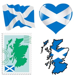 national colours of Scotland vector image