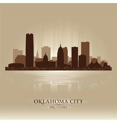 Oklahoma City skyline silhouette vector image vector image