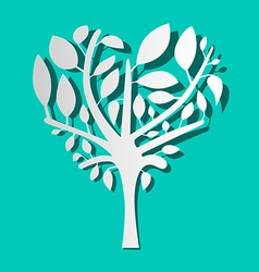 Paper Tree on Blue Background vector image