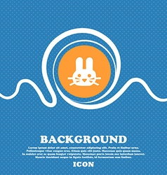 Rabbit icon sign Blue and white abstract vector image