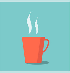 red tea cup vector image