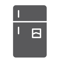 refrigerator glyph icon freeze and household vector image