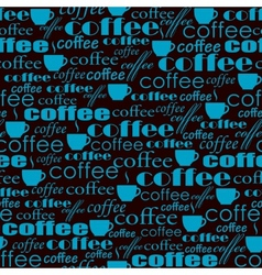 Seamless coffee pattern vector