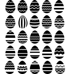 Seamless pattern made of stylized eggs vector image