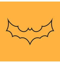 Simple black bat icon vector