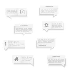 Speech Bubbles Templates vector