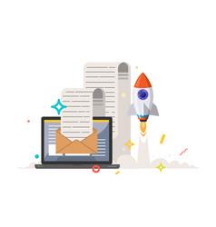 Start up message vector