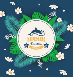 summer vacation typographic poster vector image