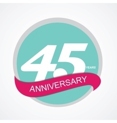 Template logo 45 anniversary vector