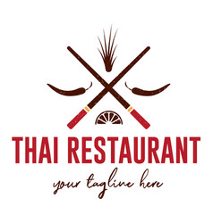 thai restaurant logo vector image