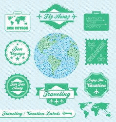 Travel Agency Labels vector