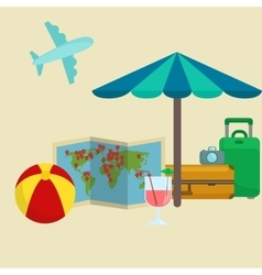 Traveling bag suitcase for trip or vocation vector image