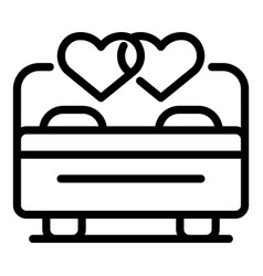 Wedding couple love night icon outline style vector