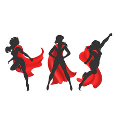 Woman superhero silhouette vector