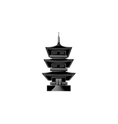 world attractions temple of kofuku-dzi in japan vector image