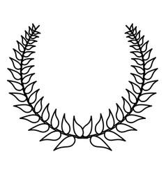 wreath decorative ornament vector image