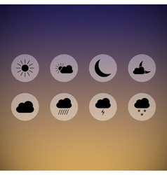 Dark weather icons vector image