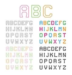 Geometric Alphabet Line Font Graphic ABC vector image