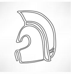 greek ancient helmet icon isolated vector image