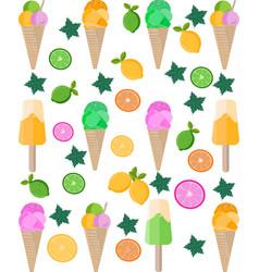 ice cream citrus background pattern vector image vector image
