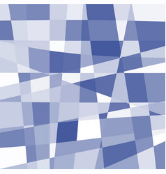 isolated abstract blue and white color unusual vector image