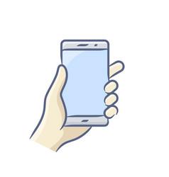 smartphone gesture icon vector image vector image