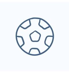 Soccer ball sketch icon vector image vector image
